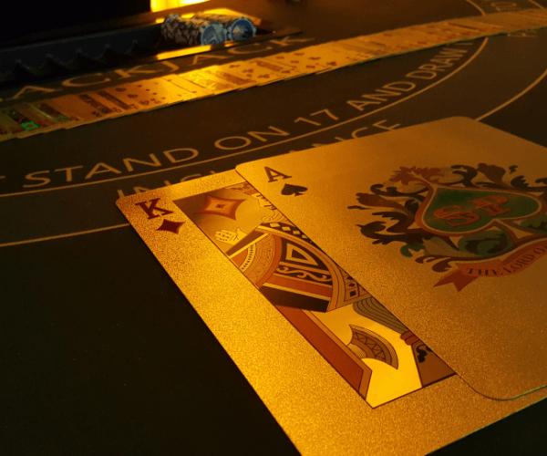 Black Jack Tisch Gold Karte