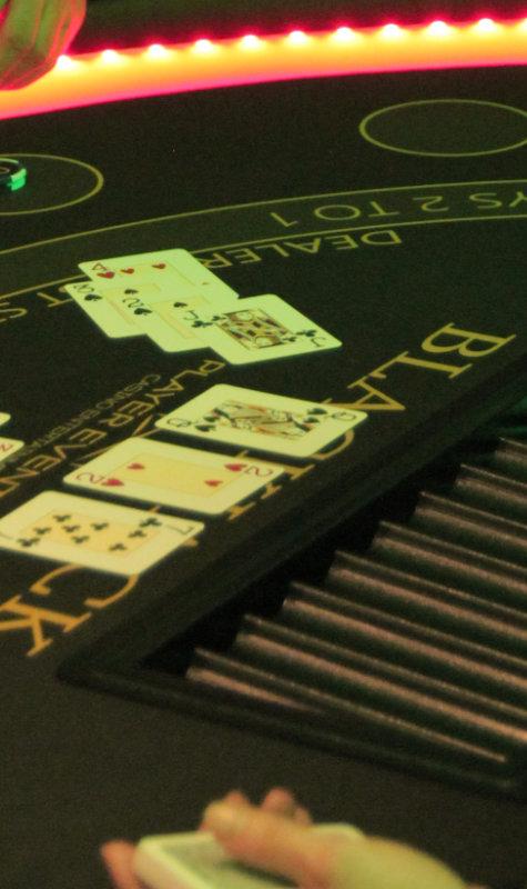Blackjack Tisch mieten action